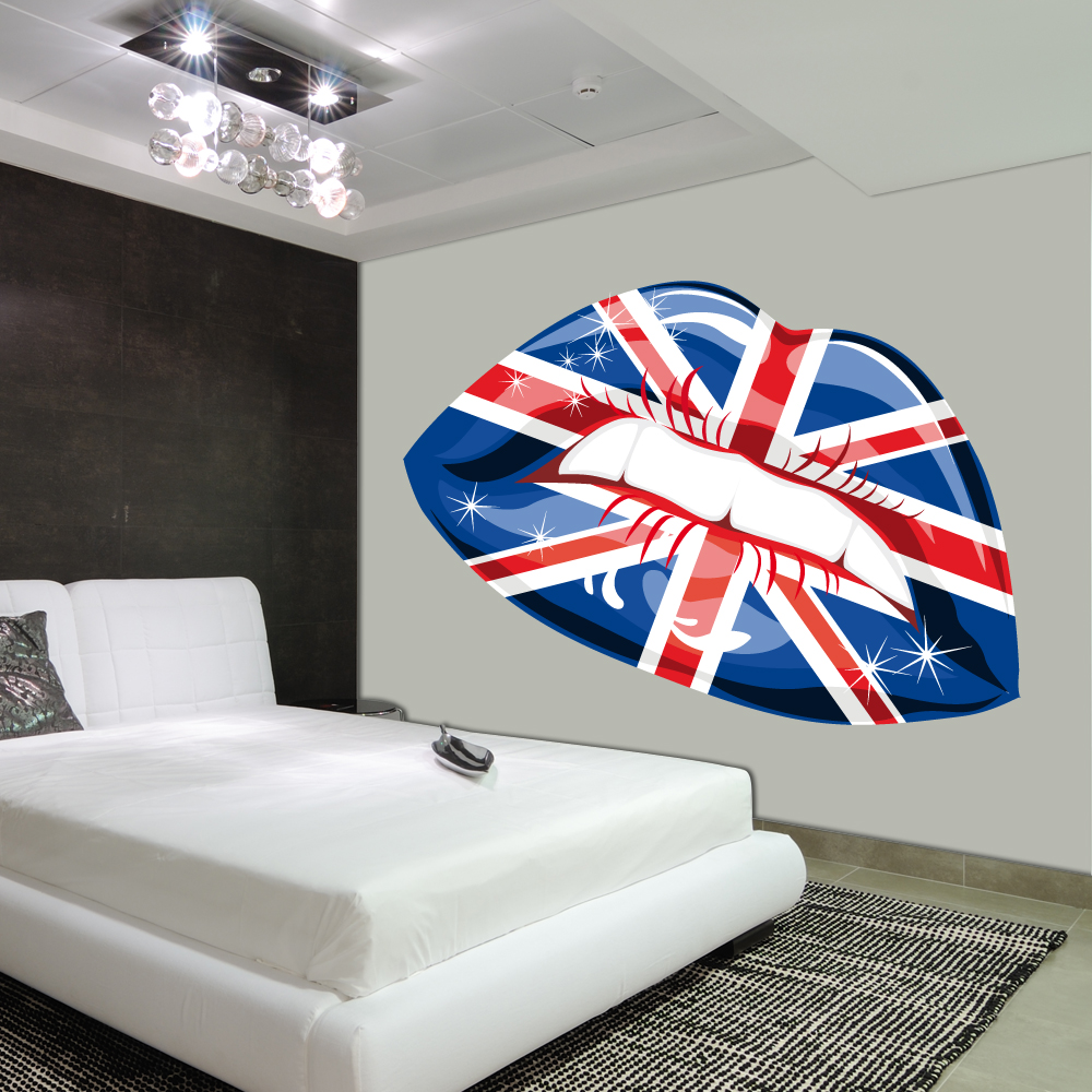 stickers bouche angleterre pas cher. Black Bedroom Furniture Sets. Home Design Ideas