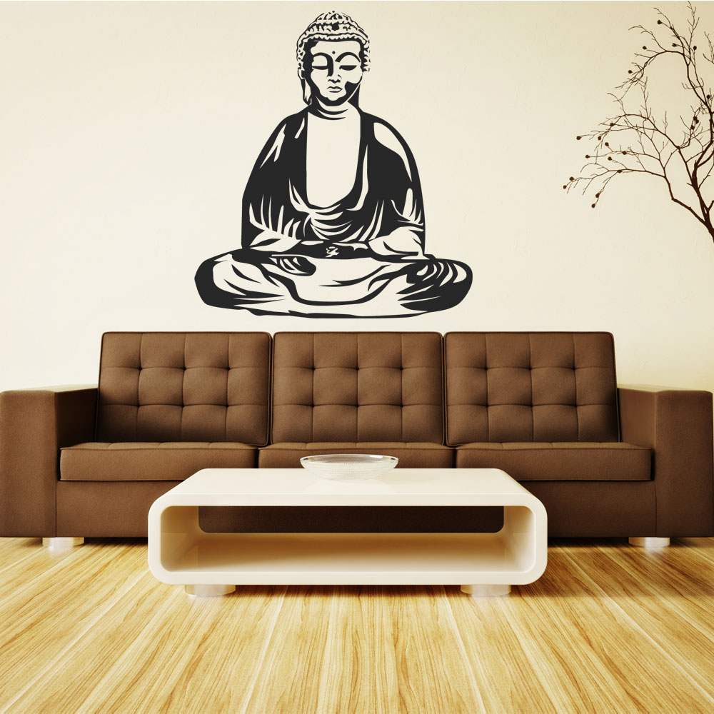 stickers bouddha pas cher. Black Bedroom Furniture Sets. Home Design Ideas