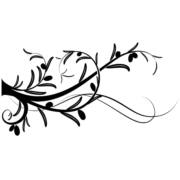 Dessin Branche D Olivier : stickers branche d 39 olivier pas cher ~ Nature-et-papiers.com Idées de Décoration