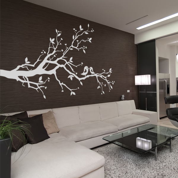 stickers branche oiseaux pas cher. Black Bedroom Furniture Sets. Home Design Ideas