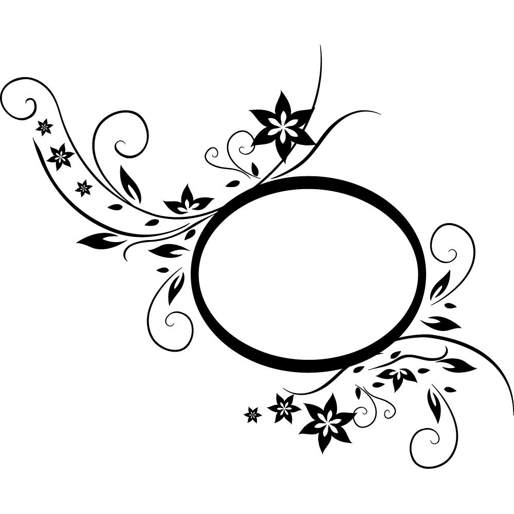 Stickers Cadre Fleur Pas Cher