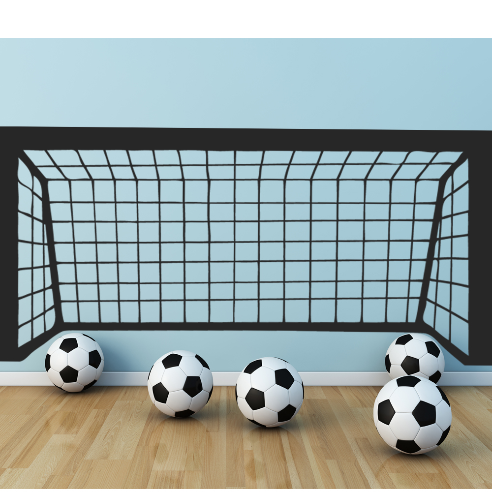 stickers cage football pas cher. Black Bedroom Furniture Sets. Home Design Ideas