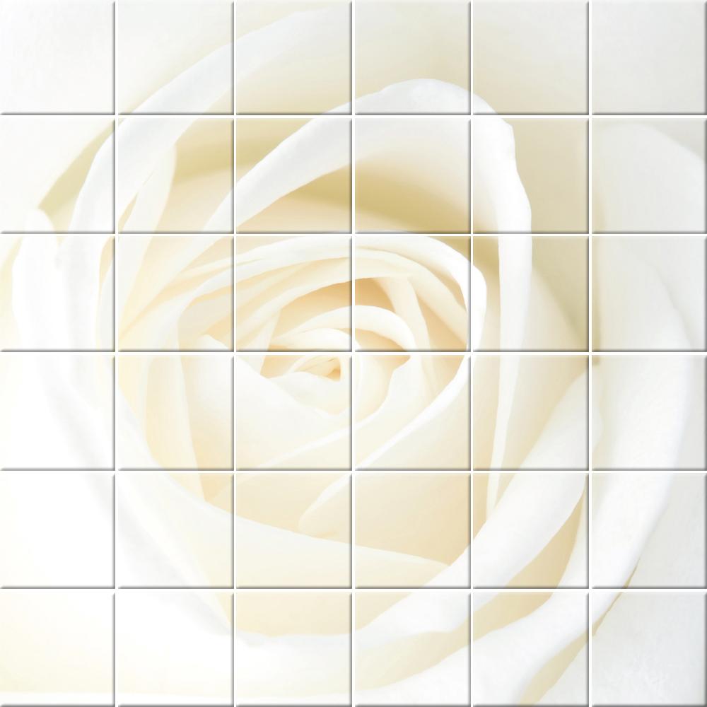 Stickers carrelage fleur Pas Cher