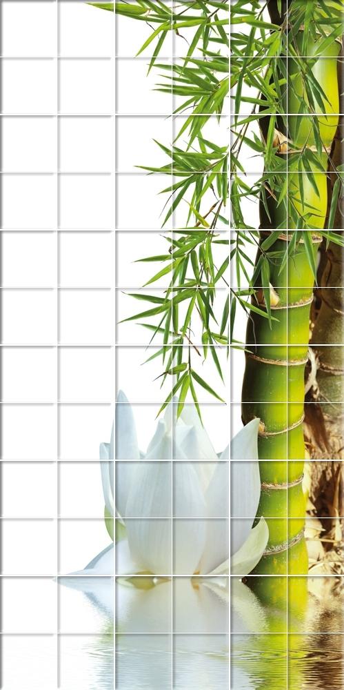 stickers carrelage fleur bambou pas cher. Black Bedroom Furniture Sets. Home Design Ideas