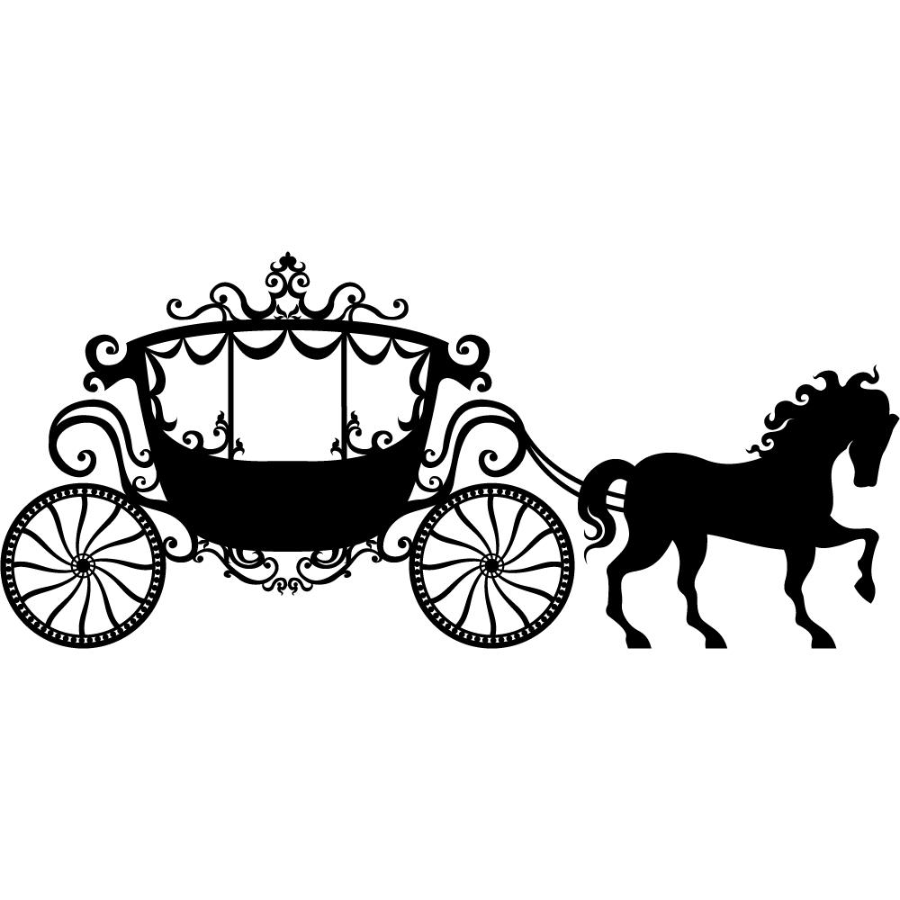 Stickers carrosse pas cher - Carrosse de princesse ...