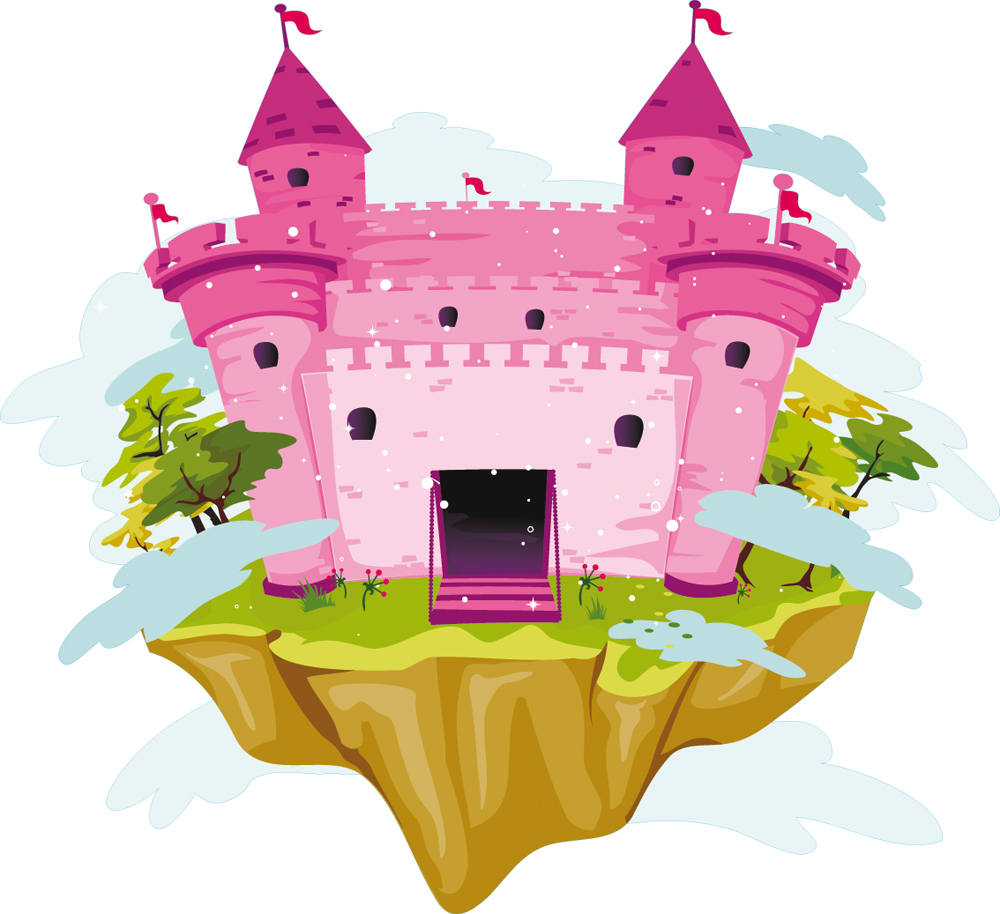 Stickers ch teau princesse pas cher for Image chateau princesse