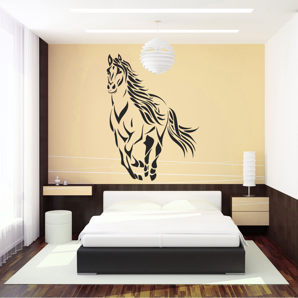 stickers cheval pas cher. Black Bedroom Furniture Sets. Home Design Ideas