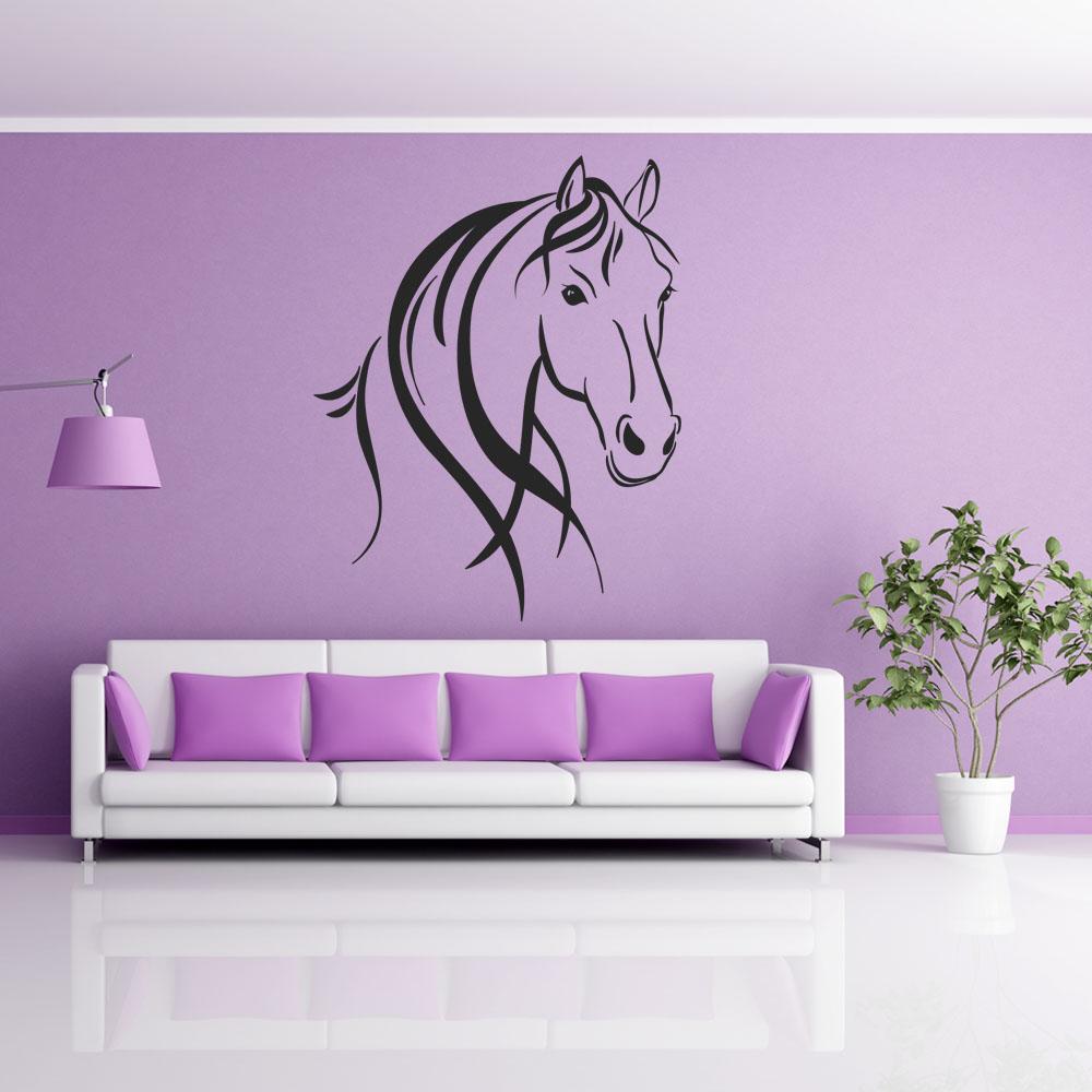 Stickers cheval pas cher - Murales camera da letto ...