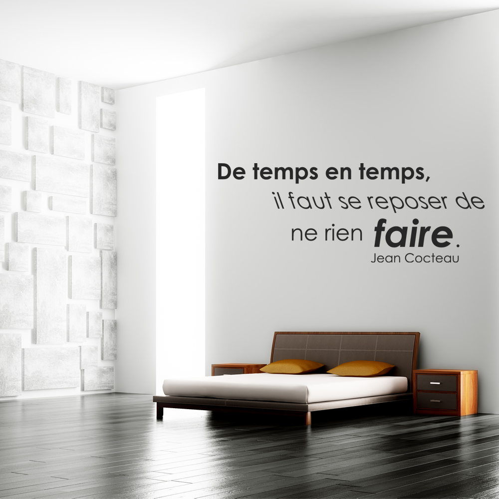 Stickers citation jean cocteau pas cher - Stickers muraux citations chambre ...