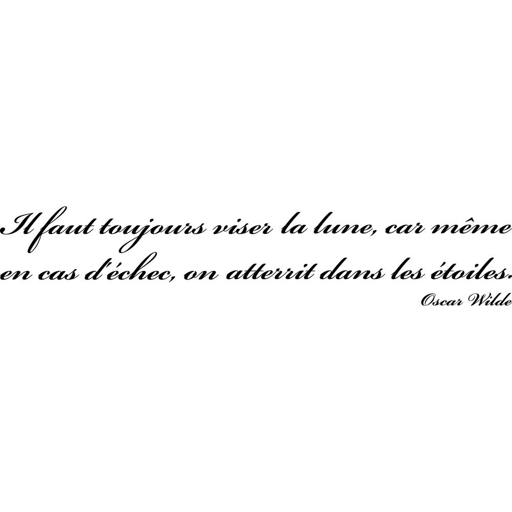 Stickers citation Oscar Wilde 2 Pas Cher