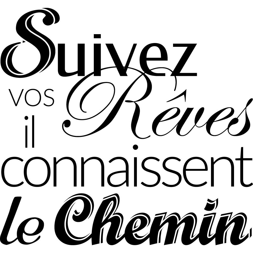 Stickers citation r ves 2 pas cher for Miroir 90x100