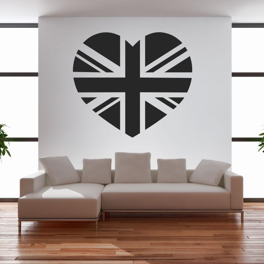 stickers coeur anglais pas cher. Black Bedroom Furniture Sets. Home Design Ideas