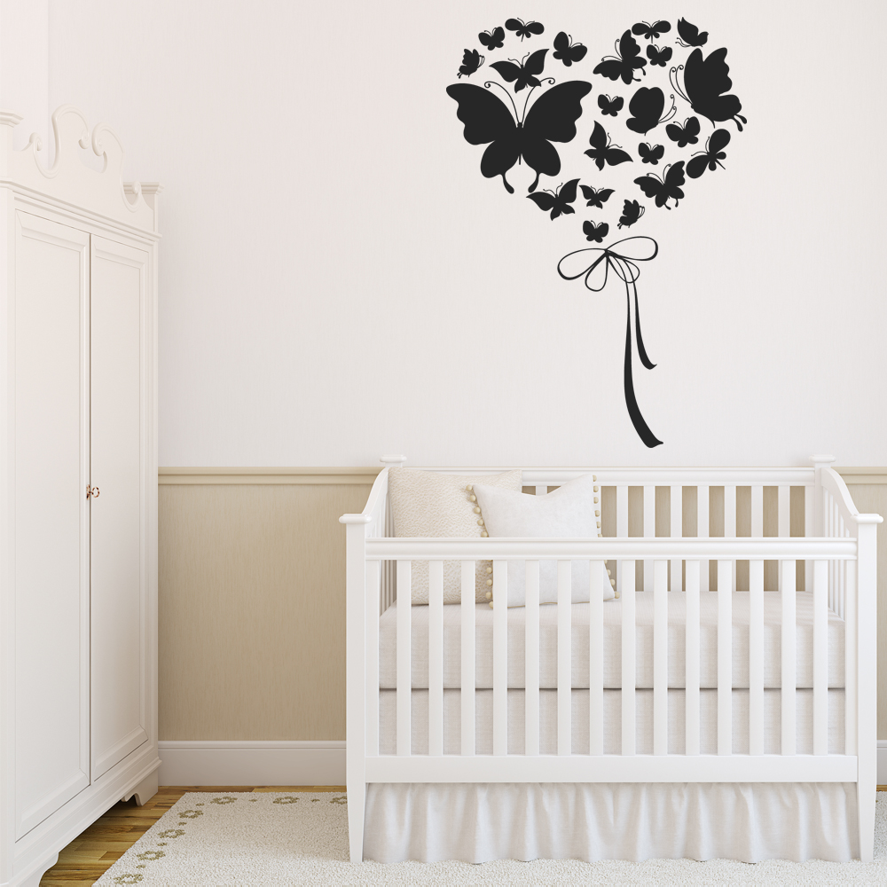 stickers coeurs papillons pas cher. Black Bedroom Furniture Sets. Home Design Ideas