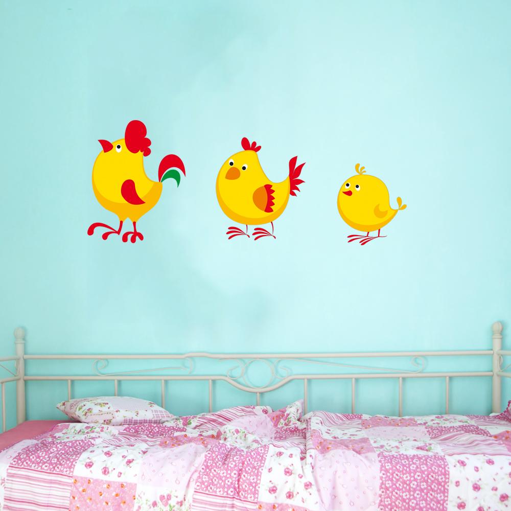 Stickers coq poule poussin pas cher for Miroir 60x150