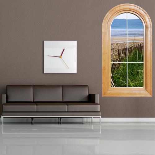 stickers fen tre trompe l 39 oeil pas cher. Black Bedroom Furniture Sets. Home Design Ideas