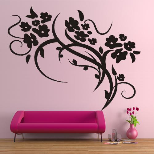 stickers fleur pas cher. Black Bedroom Furniture Sets. Home Design Ideas