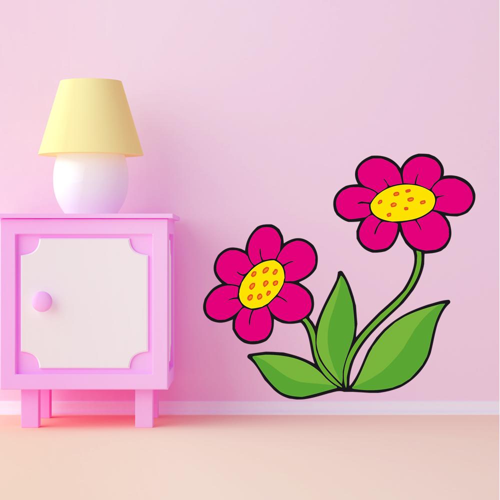 Stickers fleurs pas cher