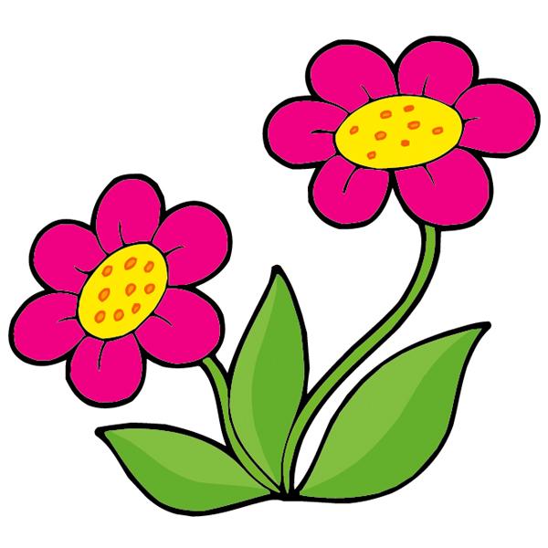Stickers fleurs pas cher - Dessin de fleurs a imprimer en couleur ...
