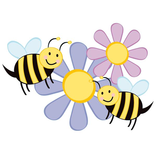 Stickers fleurs abeilles pas cher for Envoyer des fleurs pas cher livraison gratuite