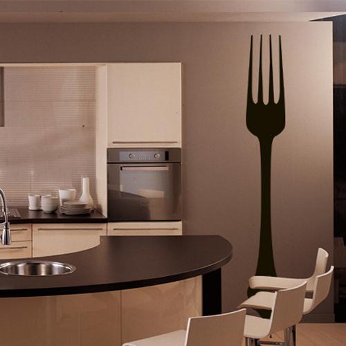 stickers fourchette pas cher. Black Bedroom Furniture Sets. Home Design Ideas