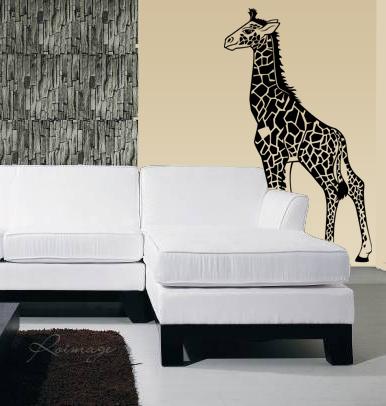 stickers girafe pas cher. Black Bedroom Furniture Sets. Home Design Ideas