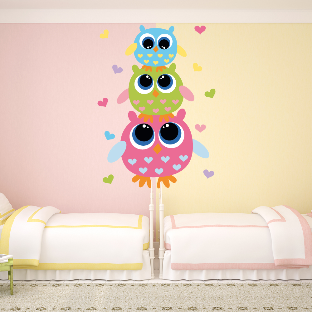 stickers hibou. Black Bedroom Furniture Sets. Home Design Ideas