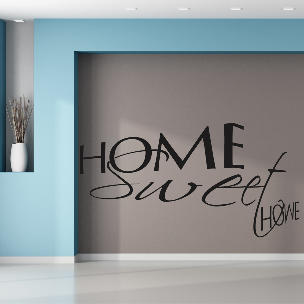 stickers home sweet home pas cher. Black Bedroom Furniture Sets. Home Design Ideas