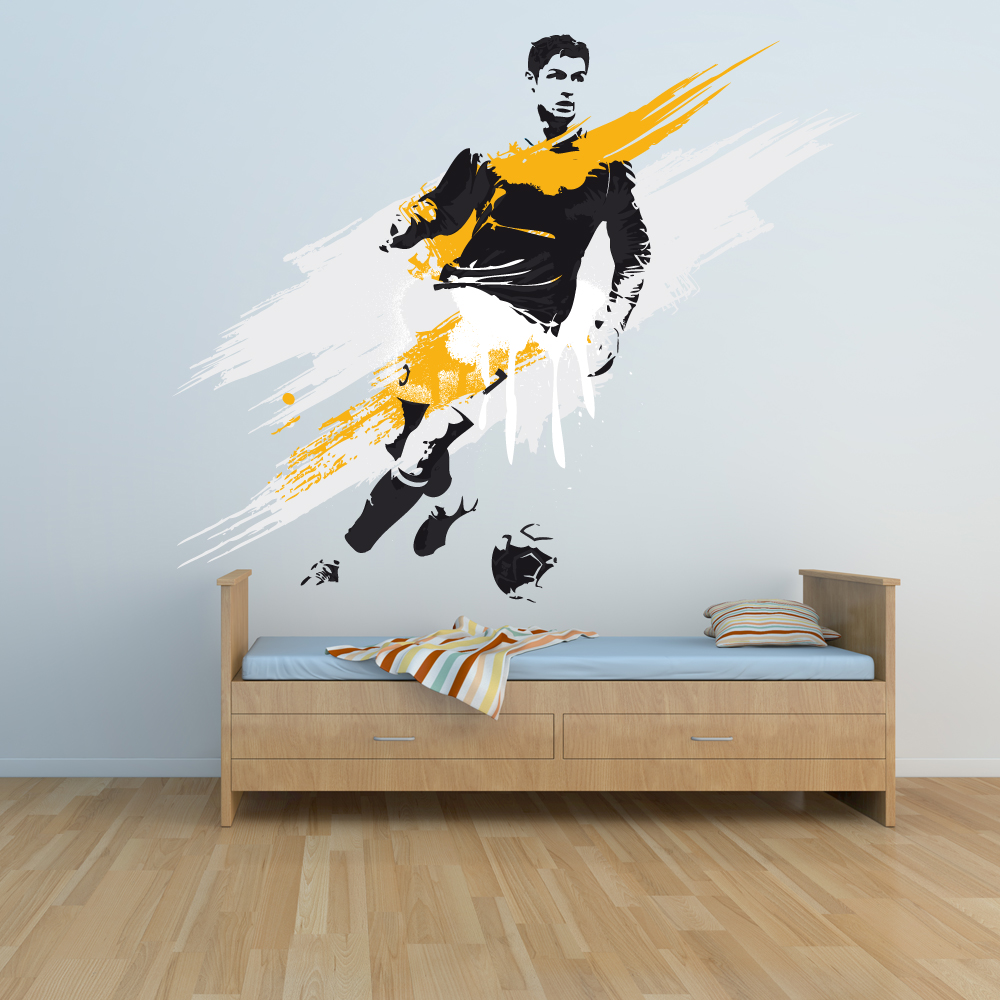 stickers joueur de foot pas cher. Black Bedroom Furniture Sets. Home Design Ideas