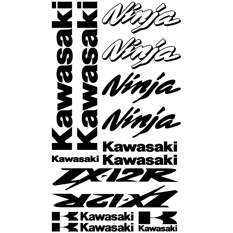 Kawasaki Zx12r Ninja jantes graphique Stickers autocollants ZX 12/R Zx12