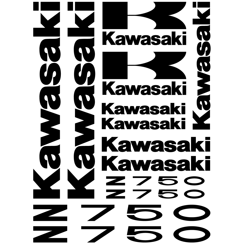 Autocollant Autocollants, KIT Liserets de jante MOTO KAWASAKI Stickers VERT KAWA Sticker