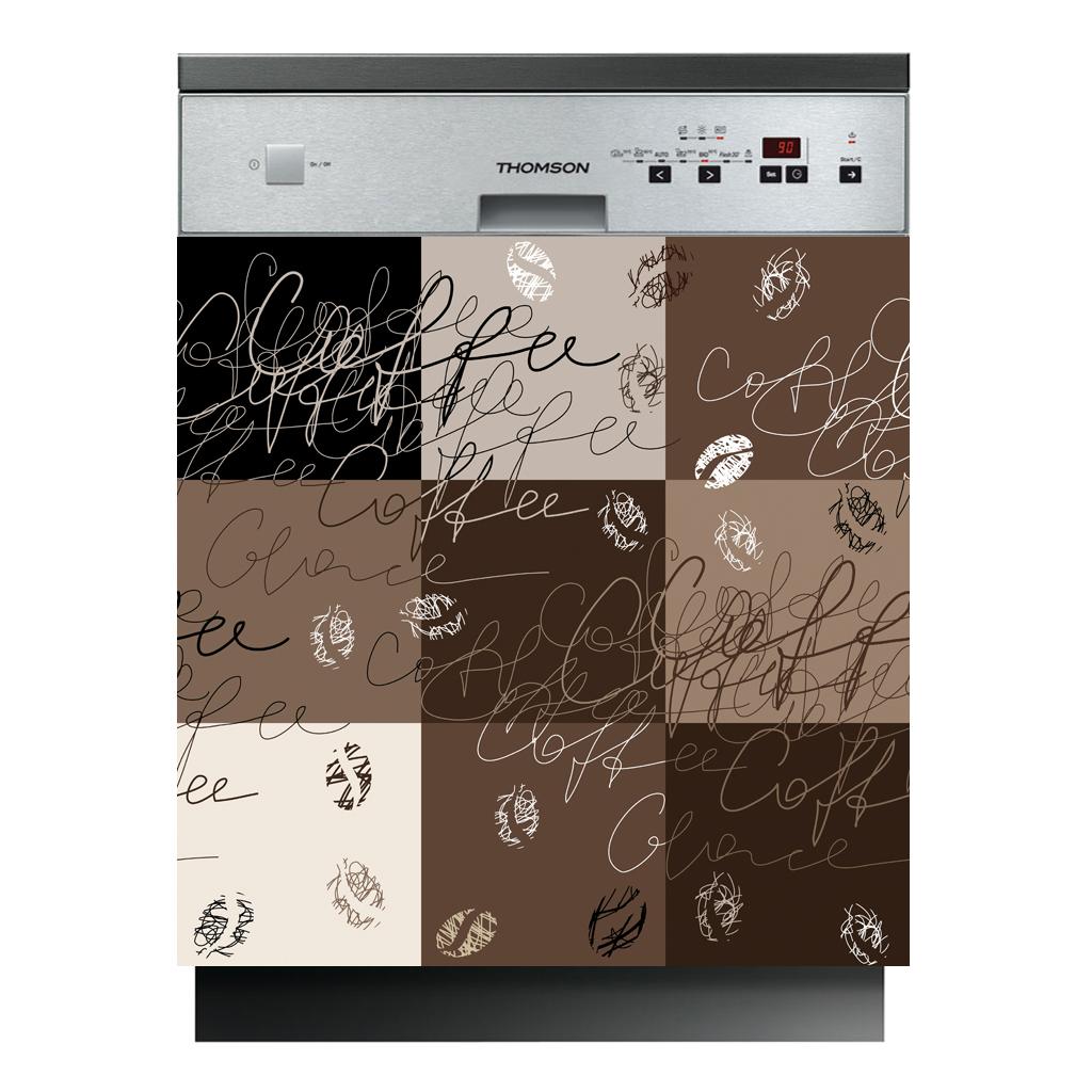 stickers lave vaisselle caf pas cher. Black Bedroom Furniture Sets. Home Design Ideas