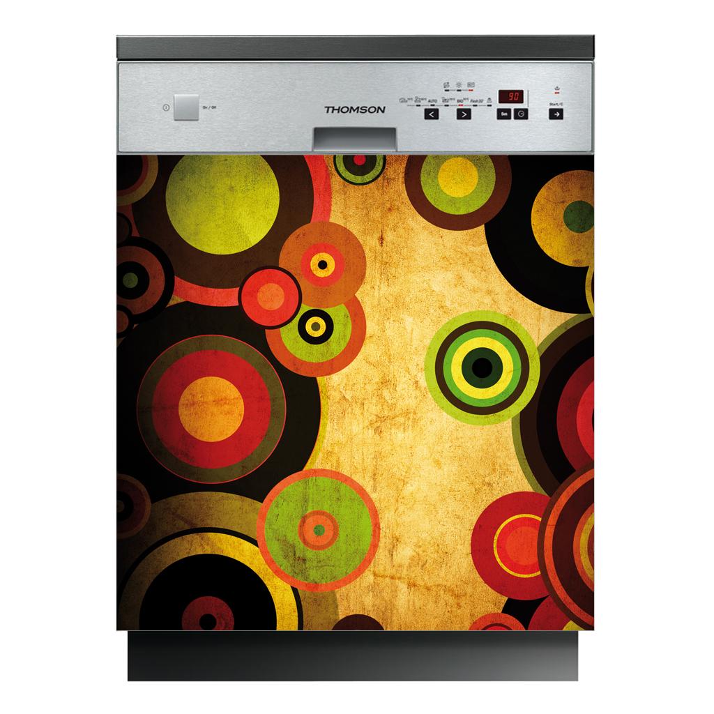 stickers lave vaisselle cercles pas cher. Black Bedroom Furniture Sets. Home Design Ideas