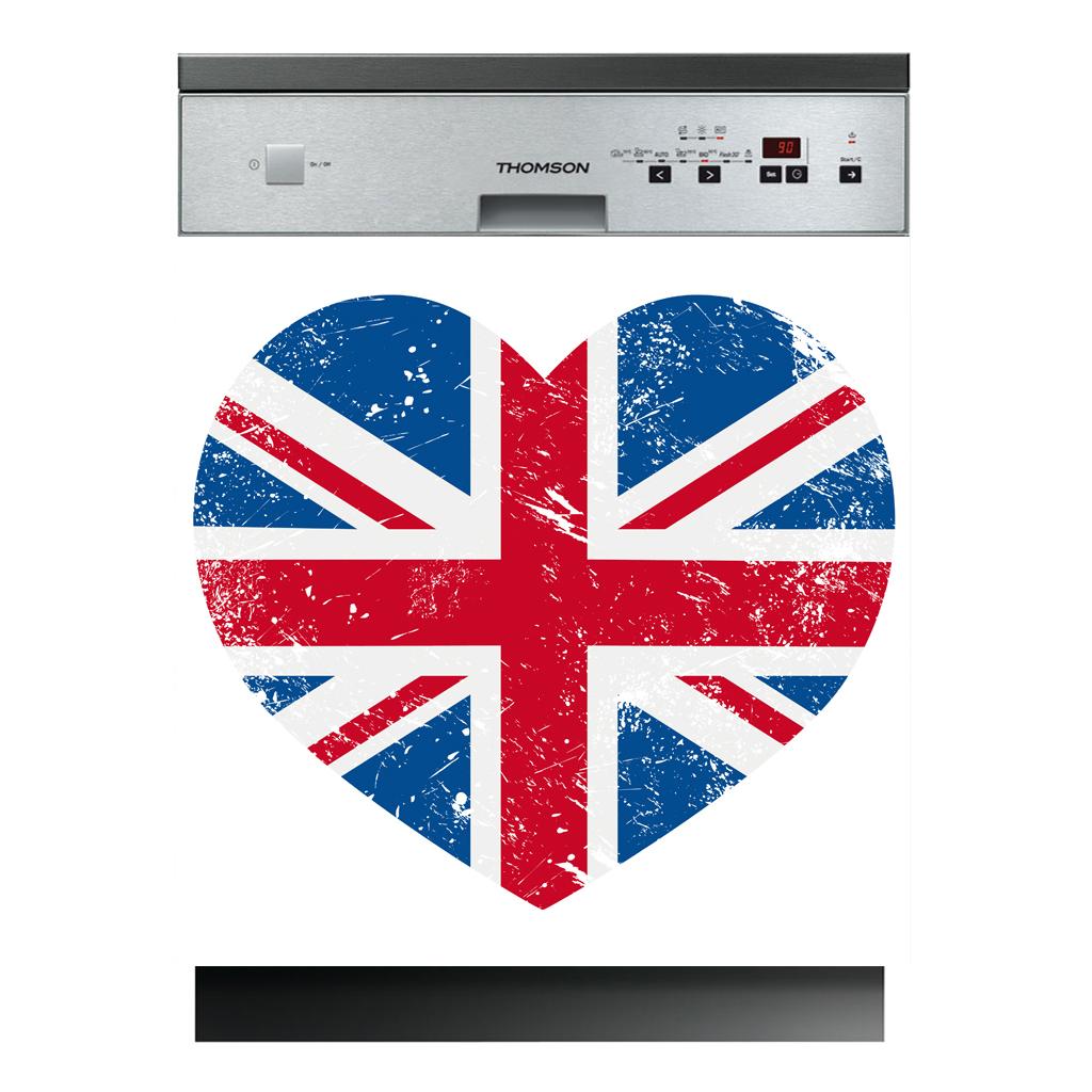 stickers lave vaisselle coeur anglais pas cher. Black Bedroom Furniture Sets. Home Design Ideas