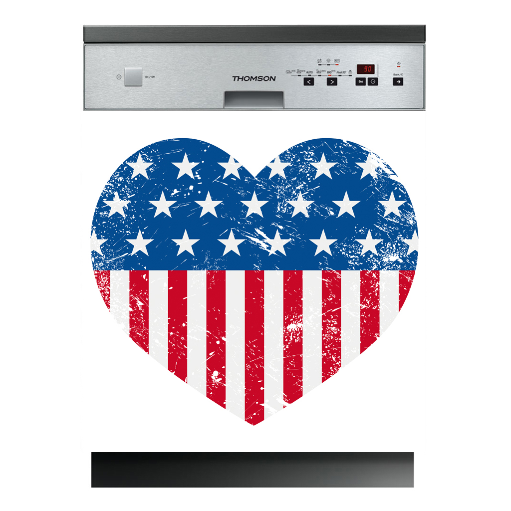 stickers lave vaisselle coeur usa pas cher. Black Bedroom Furniture Sets. Home Design Ideas