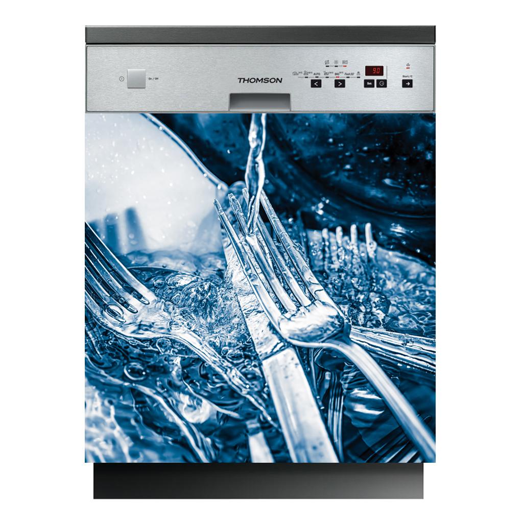 stickers lave vaisselle couverts pas cher. Black Bedroom Furniture Sets. Home Design Ideas