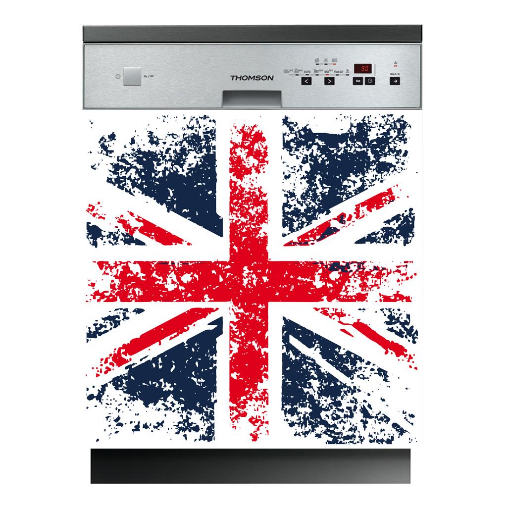 Stickers lave vaisselle drapeau anglais Pas Cher