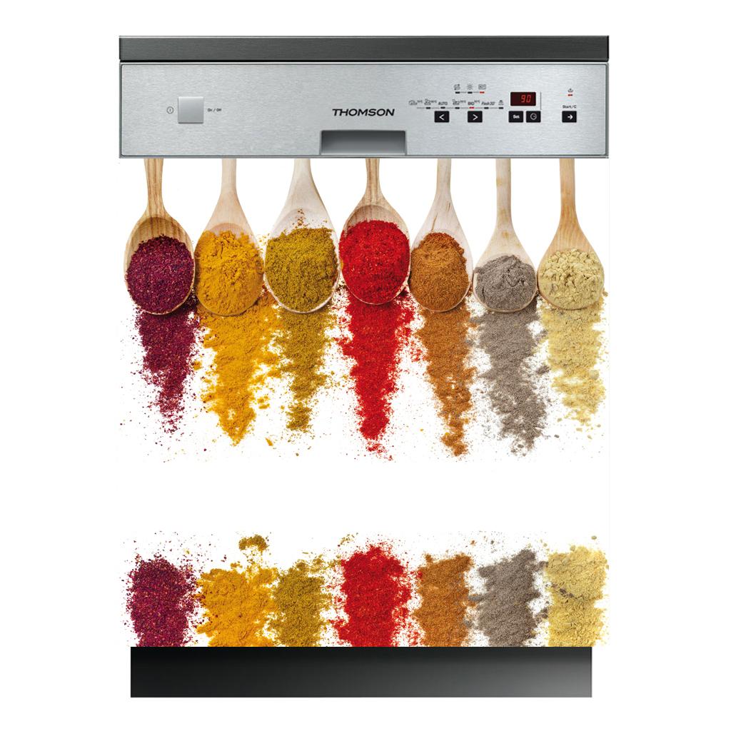 Stickers lave vaisselle pices pas cher for Epices de cuisine