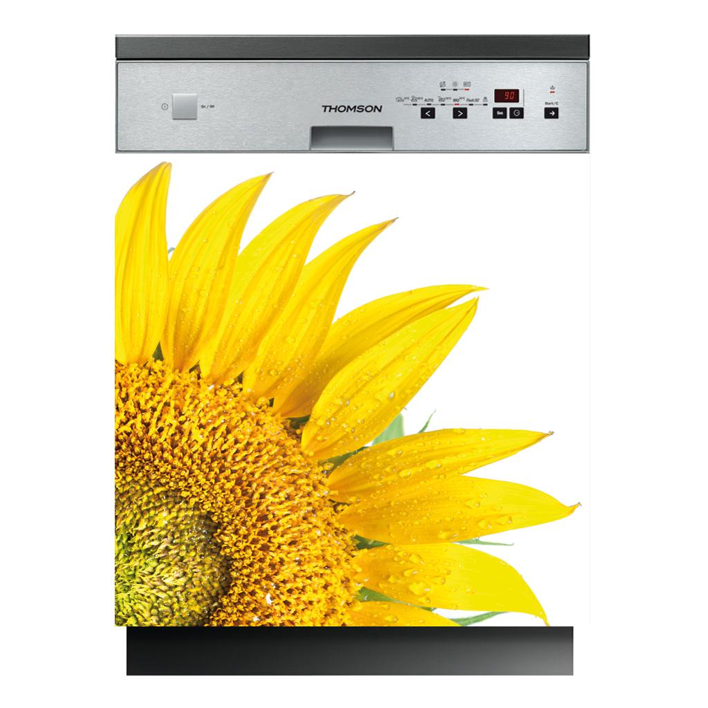 stickers lave vaisselle fleur pas cher. Black Bedroom Furniture Sets. Home Design Ideas