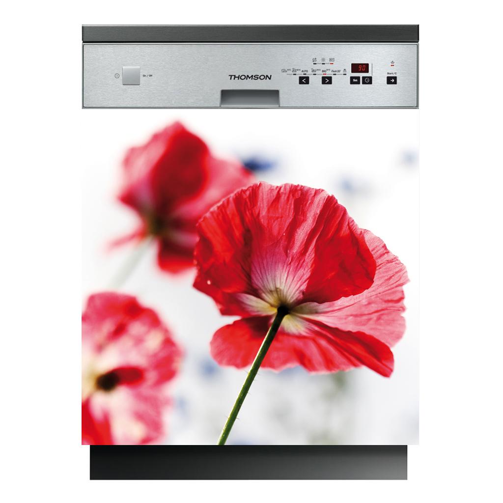 stickers lave vaisselle fleurs pas cher. Black Bedroom Furniture Sets. Home Design Ideas