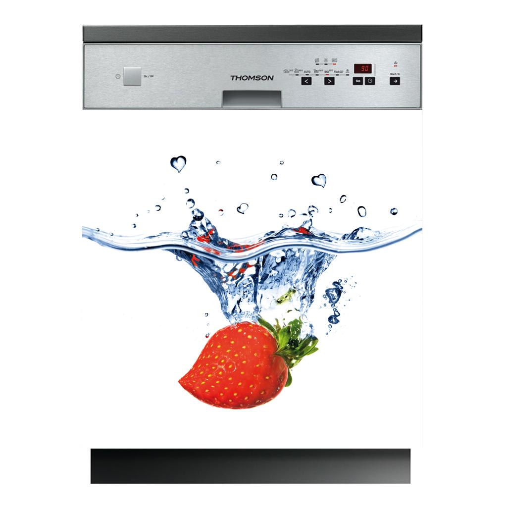 Stickers lave vaisselle fraise pas cher for Stickers pour lave vaisselle