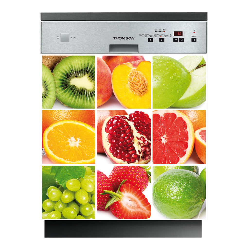 stickers lave vaisselle fruits pas cher. Black Bedroom Furniture Sets. Home Design Ideas