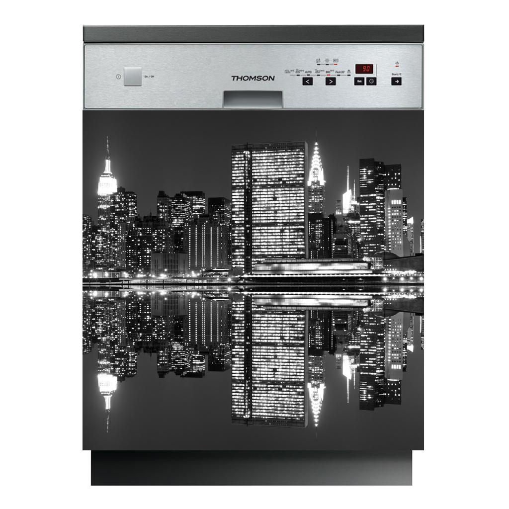 stickers lave vaisselle new york pas cher. Black Bedroom Furniture Sets. Home Design Ideas