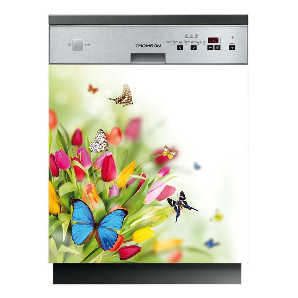 stickers lave vaisselle papillons pas cher. Black Bedroom Furniture Sets. Home Design Ideas