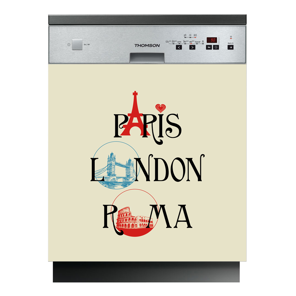 stickers lave vaisselle paris london pas cher. Black Bedroom Furniture Sets. Home Design Ideas