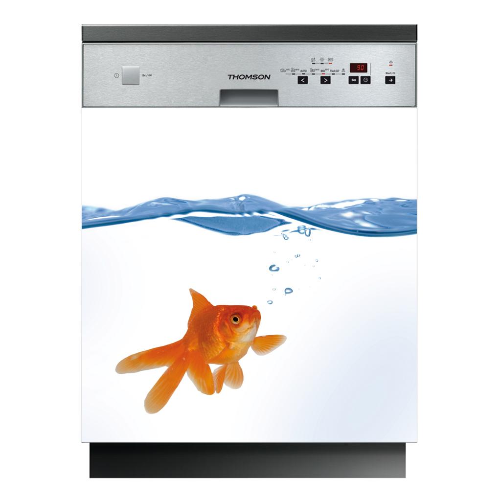 Stickers lave vaisselle poisson pas cher for Stickers pour lave vaisselle