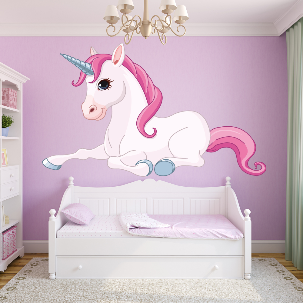 Stickers licorne pas cher for Cuarto de unicornio