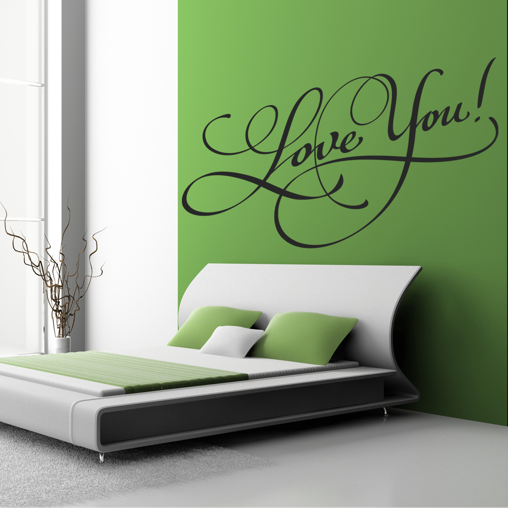 stickers love you pas cher. Black Bedroom Furniture Sets. Home Design Ideas