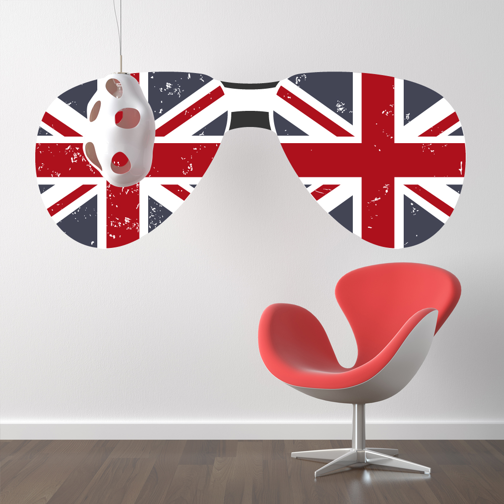 Stickers lunette angleterre pas cher for Miroir 70x170