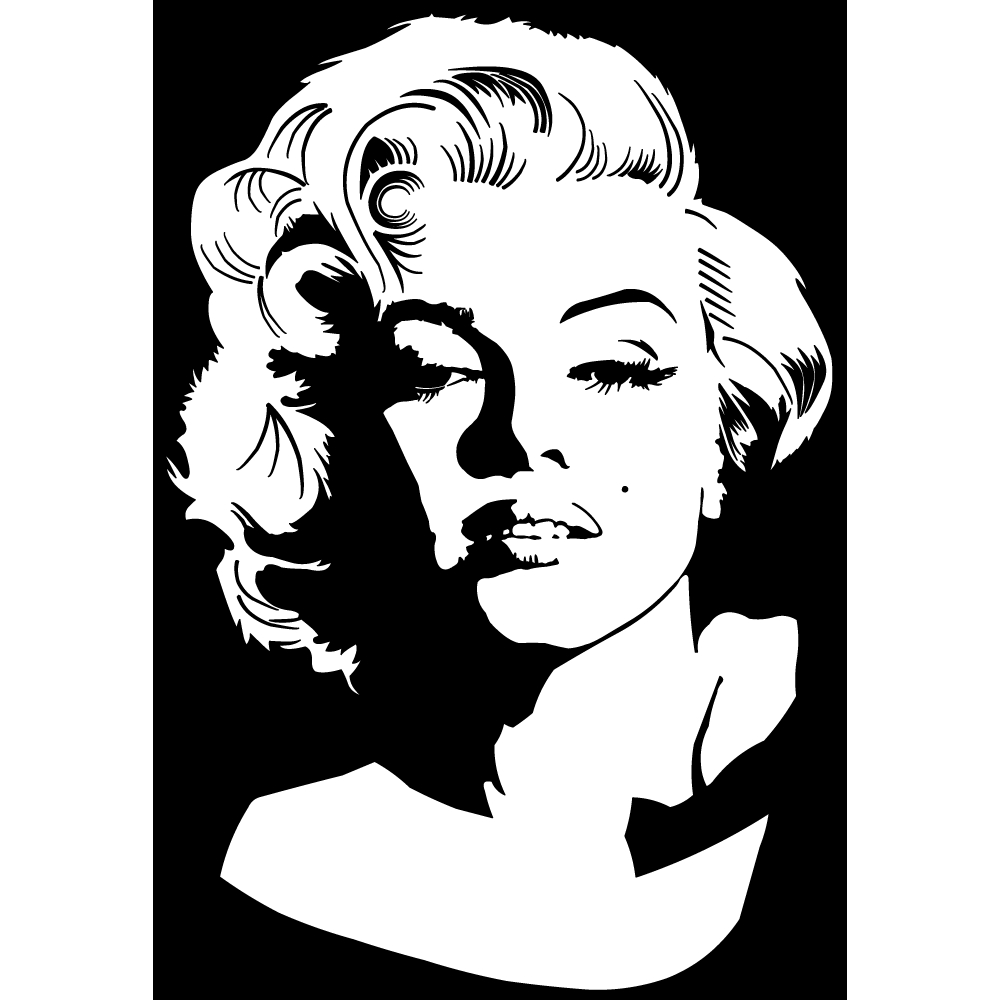 stickers marilyn monroe pas cher. Black Bedroom Furniture Sets. Home Design Ideas