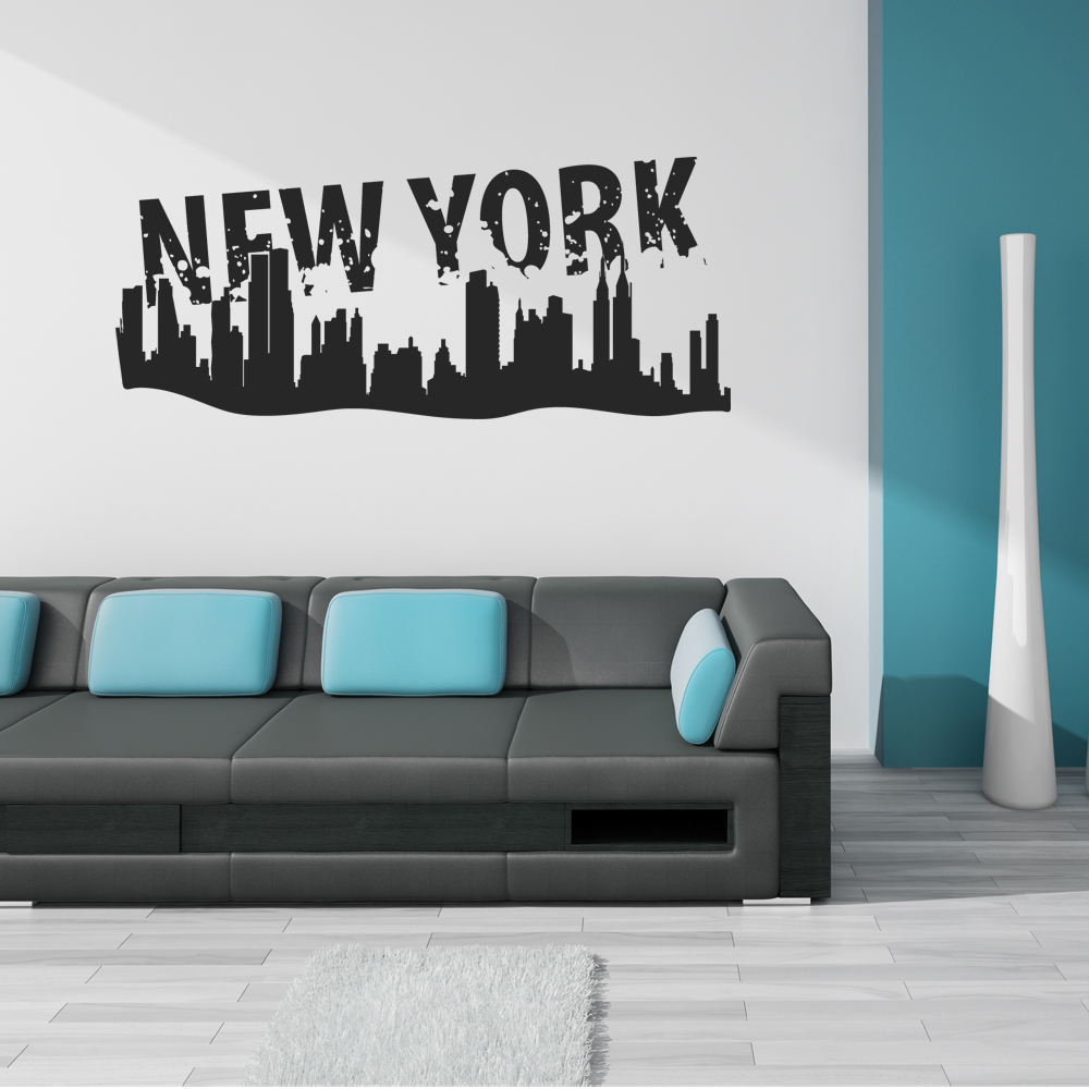 stickers new york pas cher. Black Bedroom Furniture Sets. Home Design Ideas